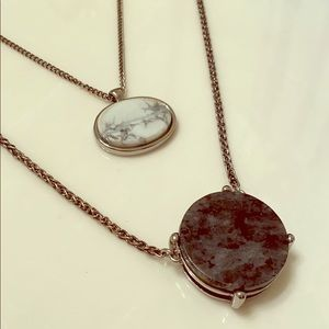 Marble Stone Layered Necklace